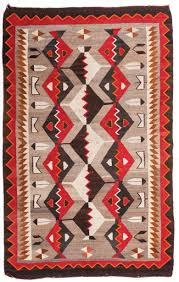 Navajo Blanket Designs Navajo Weaving Bright And Colorful Navajo Rug With Feather