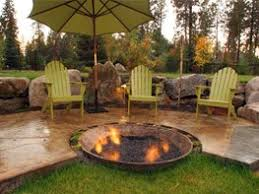 concrete patio designs with fire pit. Modren Pit Custom For Concrete Patio Designs With Fire Pit A