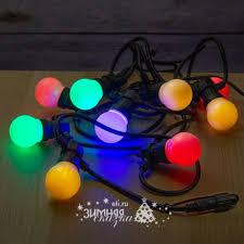 <b>Гирлянда</b> из лампочек <b>Фиеста</b>, 10 ламп, разноцветные <b>LED</b>, 5 м ...