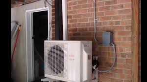 Heating And Air Units For Sale Fujitsu Ductless Ac Outdoor Indoor Unit Youtube
