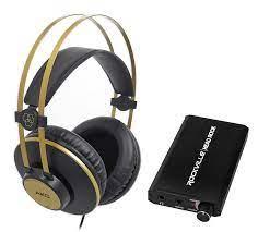 Amazon.com: AKG K92 Studio/Production.Podcast Monitor Headphones+Rechargeable  Headphone Amp: Electronics
