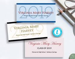 Graduation Name Card Inserts Template Diy Printable Graduation Name Card Insert Add Your College