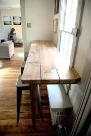 kitchen table wall mounted kitchen table breakfast bar along empty wall pass through for wall mounted