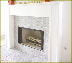 marble mosaic tile fireplace