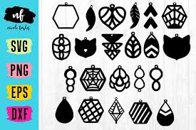 viewing product faux leather earring templates svg