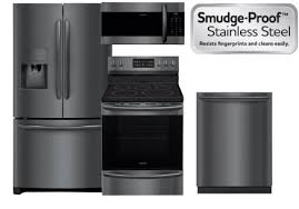 a beautiful new look with the same easy to clean fingerprint resistant finish introducing the new frigidaire gallery smudge proof black stainless steel