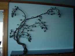 custom made steel grape vine wall sculpture on metal grape vine wall art with hand crafted steel grape vine wall sculpture by reflections from the