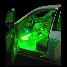 inside lighting. Interior LED Car Lights Green 4-Piece Flexible Strip Inside Vehicle Inside Lighting T
