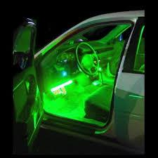 interior led car lights green 4 piece flexible strip lights inside vehicle