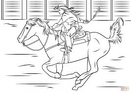 Small Picture Coloring Pages Cowgirl Riding Horse Coloring Page Free Printable