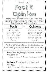 Fact Vs Opinion Anchor Chart Facts And Opinion Worksheets Odmartlifestyle Com