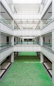 building an office. Download Atrium In An Office Building Stock Image - Of Grass, Contemporary: 15014067