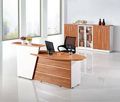 Simple design reception desk display case, China supply l shaped reception  desks