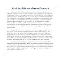 statement for cardiology fellowship sample personal statement for cardiology fellowship sample