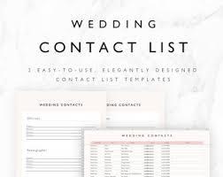 Wedding Excel Checklist Wedding Guest List Planner And Guest List Tracker Excel Etsy