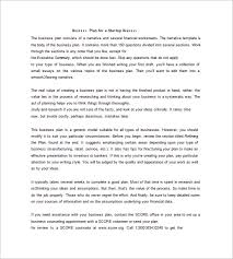Basic Business Plan Template Printable Doc Simple Business Plan Example