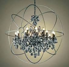 restoration hardware chandelier crystal orb halo chandeliers