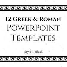Greek Templates 12 Greek And Roman Powerpoint Templates Black Tpt
