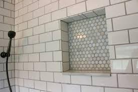shower niche bathroom handsome white subway tile shower oaks surround with prefab shower niche shower niche