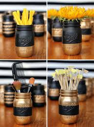 diy makeup organizing ideas painted patterned mason jar projects for makeup drawer box
