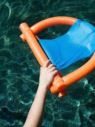 pool noodle float hand