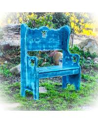 distressed blue furniture. Shabby Chic Bench, Distressed, Blue Bench Seat, Wood, Kids Small Distressed Furniture