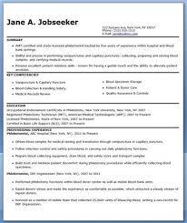 Resumes For Phlebotomist More Phlebotomy Resume Templates