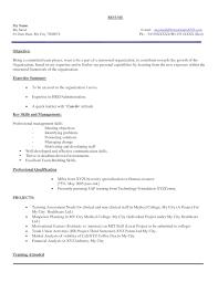 Hr Resume Format For Freshers Resume For Your Job Application