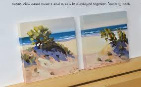 landscape oil painting on raised wood panel 4