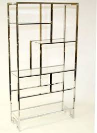 5 shelf glass bookcase metal and over the toilet