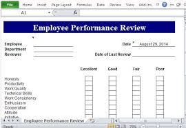 Template For Employee Performance Review Performance Review Template For Microsoft Excel