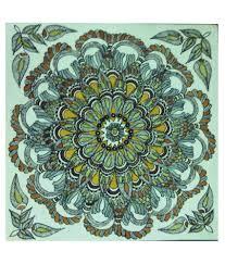 Mithila Painting Bed Sheet Design Maya Tattoo Design Multicolour Madhubani Painting Buy Maya