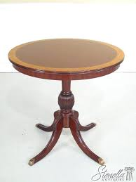 details about pedestal base mahogany occasional round table new unfinished oak round table