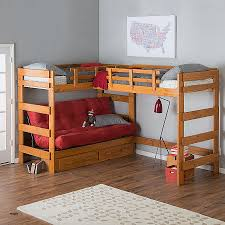 cool bunk beds for 4. Bunk Beds 4 Less Luxury Woodcrest Heartland Futon Bed With Extra Loft Kids Cool For