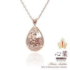 accessorybarzaz mind design necklace lady s ruby diamond ruby necklace teardrop rose gold present she present celebration birthday memorial day drop