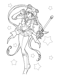 cool inspiration sailor moon coloring pages anime eternal chibi