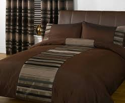 just contempo striped duvet cover set single brown co uk kitchen home