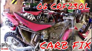 Crf230f Jetting Chart Honda Crf230 Carburetor Main Jet Pilot Jet Clean Wont Start