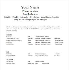 Audition Resume Templates Acting Resume Template 7 Free Word Excel Pdf Format