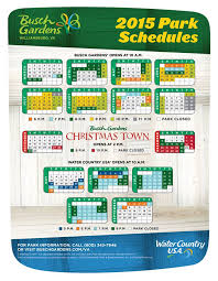 Busch Gardens Williamsburg Attendance Chart Busch Gardens Christmas Town Crowd Calendar Thecannonball Org