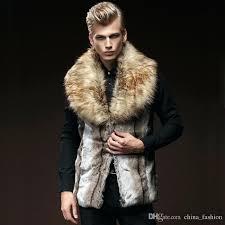 brown fur coat mens brown faux fur vest cool fur shawl collar sleeveless winter jacket outwear brown fur coat mens