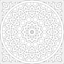 Blank Coloring Page Mandala By Shala