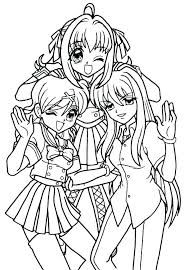 Anime Best Friends Girl Coloring Page Rxxlist Info Bff Pages