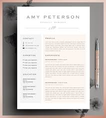 Etsy Resume Professional CV Curriculum Vitae 24 Page Resume Simple 2