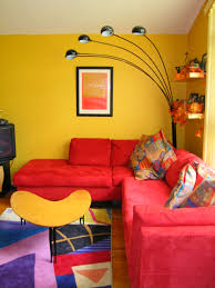 Magnificent Living Room Awesome Yellow Decorating With Red Yellow Themed Living Room