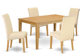 Winston Porter Madelynn Kitchen Table 5 Piece Solid Wood Dining Set