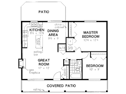 Square Kitchen Floor Plans Cabin Style House Plan 2 Beds 100 Baths 900 Sq Ft Plan 18 327