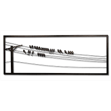 birds on wire 48 in w x 1 in d x 18 in  on outdoor metal wall art birds with birds on wire 48 in w x 1 in d x 18 in h metal wall art wd202db