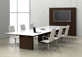 impress board members with these five modern conference room images cool round glass meeting table tables
