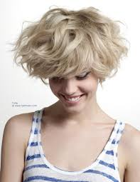 Bed Hair Style layered blonde short hair short bed head hair with rugged wavy styling 7743 by wearticles.com
